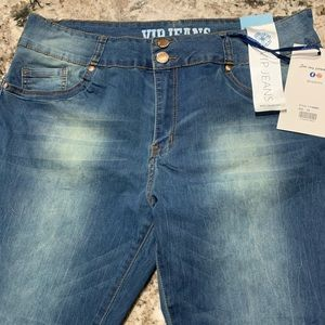 Denim - Plus size faded out jeans
